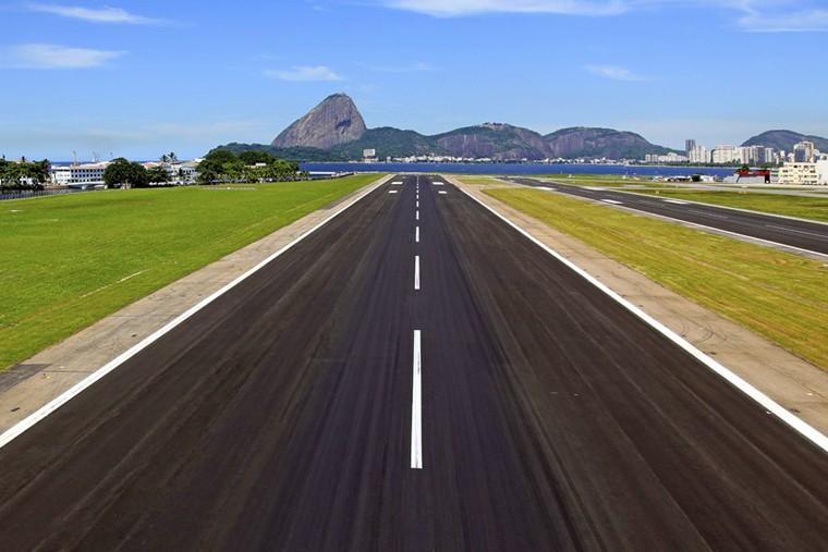 Fotografia aérea aeroporto Santos Dumont
