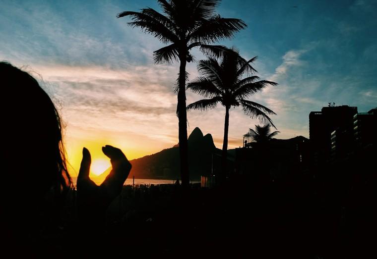 Por do sol Ipanema