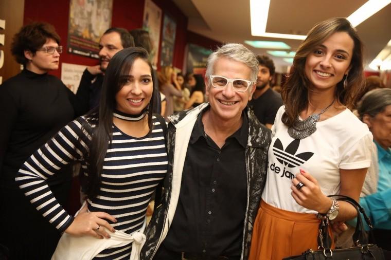 Eu, Karen e o diretor Claudio Torres Gonzaga (Foto: Alessandro Mendes)