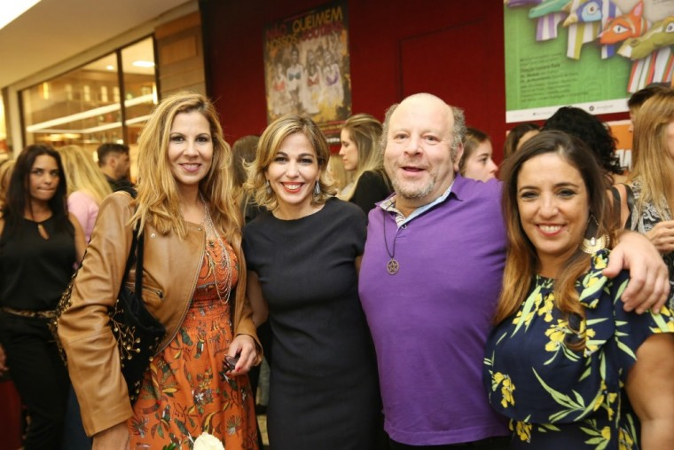 Carla Daniel, Ana Bugarim,  Charles Paraventi e Katia Moraes (Foto: Alessandro Mendes)