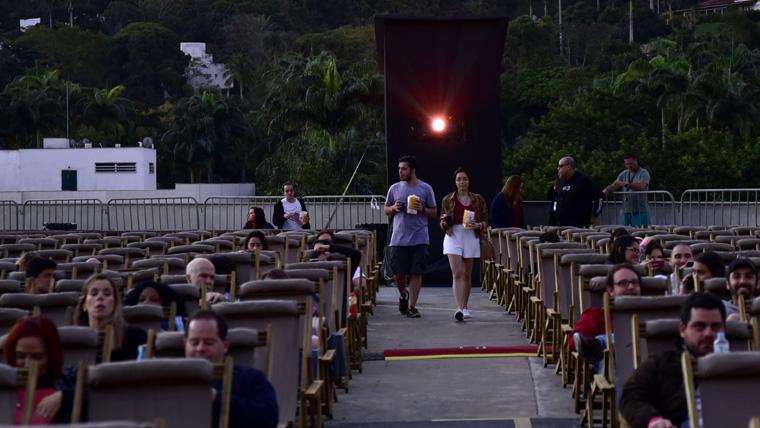 Cinema ao ar livre no rio de janeiro
