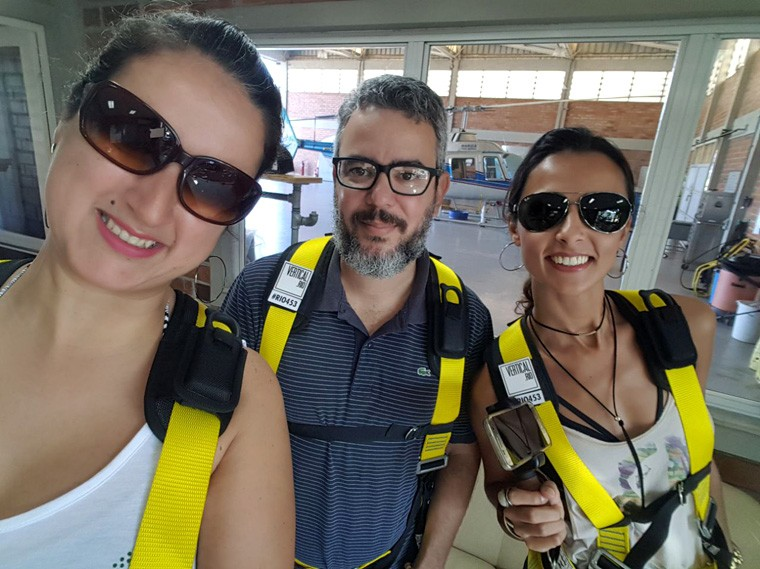 Nairoquinha, Edu Madeira e eu, parceiros de aventuras!